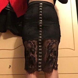 Dresses & Skirts - Goth form fitting skirt